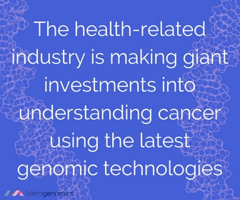 Image of article quote about cancer genome investments