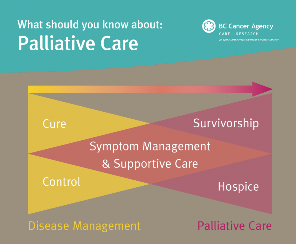 Image with graphic explaining what is palliative care
