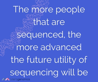 Image of article quote on personal genome sequencing progress