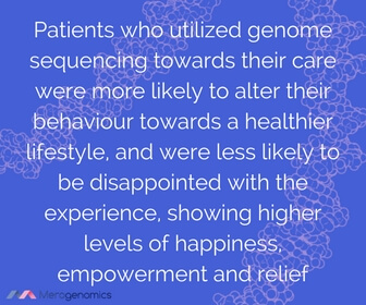 Image of article quote on advantages of genome sequencing