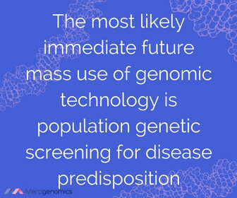 Image of article quote on DNA testing for disease