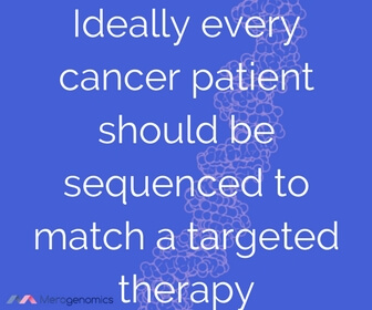 Image of article quote on genetic testing for cancer