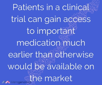 Image of article quote on benefits of clinical trials