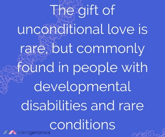 Image of article quote on unconditional love