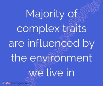 Image of Merogenomics article quote on environmental influences on traits