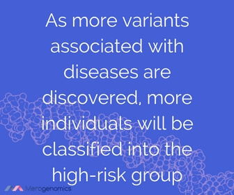 Image of Merogenomics article quote on high risk genetics