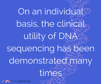 Image of Merogenomics article quote on clinical genomics utility