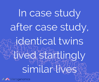 Image of Merogenomics article quote on facts about identical twins