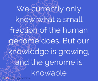 Image of Merogenomics article quote on human genome