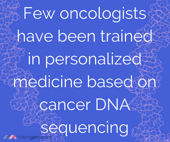 Image of Merogenomics article quote on DNA cancer test training