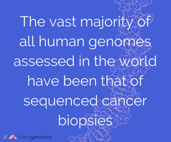 Image of Merogenomics article quote on genetic testing for cancer