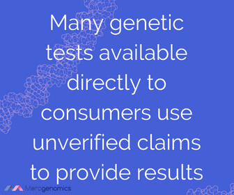 Image of Merogenomics article quote on DNA testing cuation