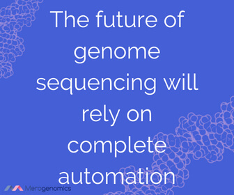 Image of Merogenomics article quote on genome testing and automation