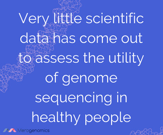 Image of Merogenomics article quote on DNA testing for health risks