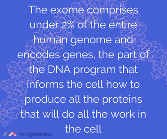 Image of Merogenomics article quote on exome