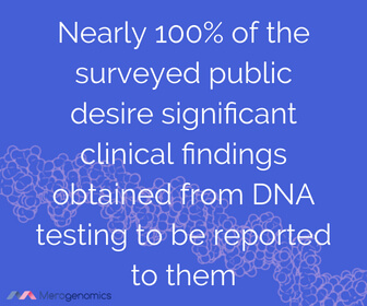 Image of Merogenomics article quote on health DNA testing results