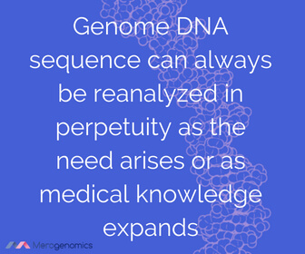 Image of Merogenomics article quote on DNA analysis