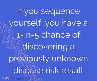 Image of Merogenomics article quote on DNA testing for health issues results odds