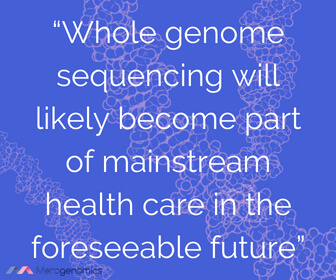 Image of Merogenomics article quote on DNA testing for health reasons