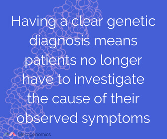Image of Merogenomics article quote on genetic diagnosis benefits