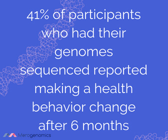 Image of Merogenomics article quote on healthy lifestyle changes after sequencing