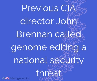 Image of Merogenomics article quote on DNA and national security