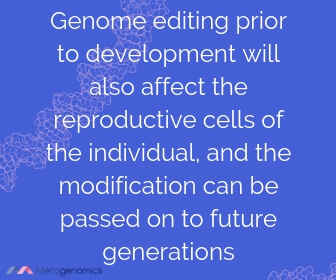 Image of Merogenomics article quote on genetic modification in humans