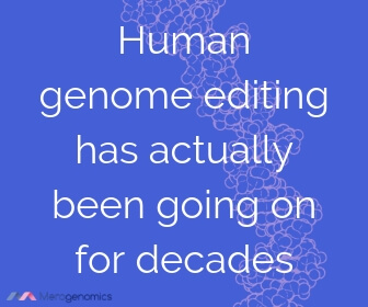 Image of Merogenomics article quote on genetic modification history