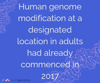 Image of Merogenomics article quote on genetically modified humans