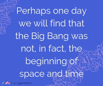Image of Merogenomics article quote on Big Bang Theory