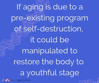 Image of Merogenomics article quote on theories behind aging