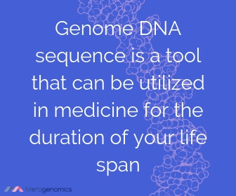 Image of Merogenomics article quote on DNA medical tests lifetime utility