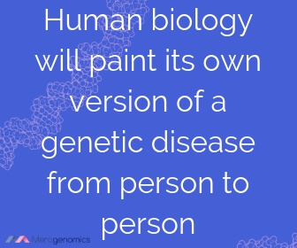 Image of Merogenomics article quote on genetic disorders outcomes