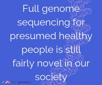 Image of Merogenomics article quote on genome sequencing in healthy people