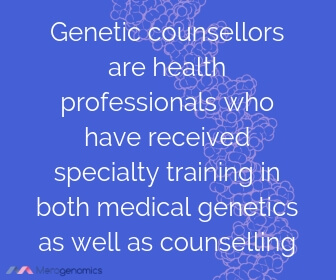 Image of Merogenomics article quote on genetic counselling