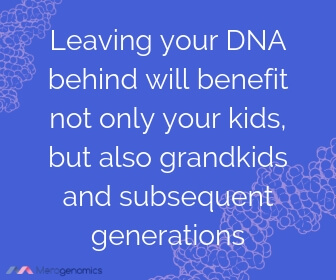 Image of Merogenomics article quote on multi-generational benefits of DNA testing