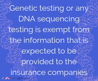 Image of Merogenomics article quote on DNA testing and insurance