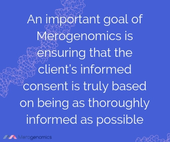 Image of Merogenomics article quote on informed consent for genetic testing