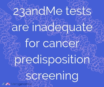 Image of Merogenomics article quote on 23andme and cancer testing