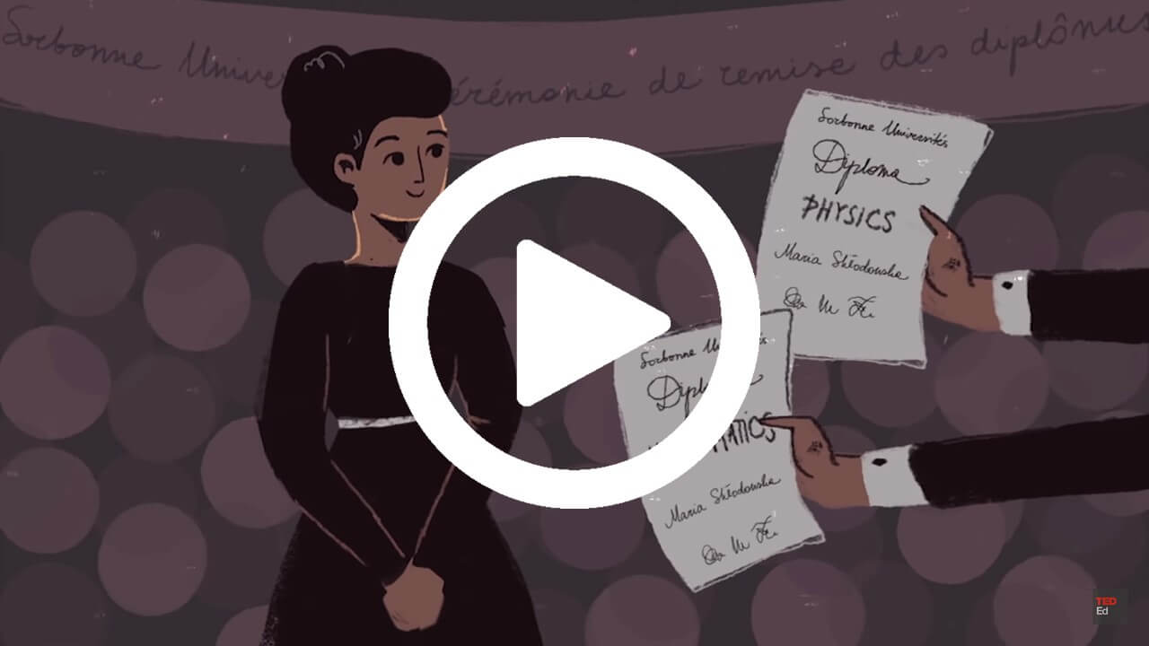 Image of Ted talks Marie Curie video screenshot