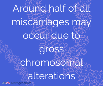 Image of Merogenomics article quote on what causes miscarriage