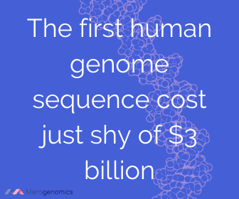 Image of Merogenomics article quote on human genome project cost