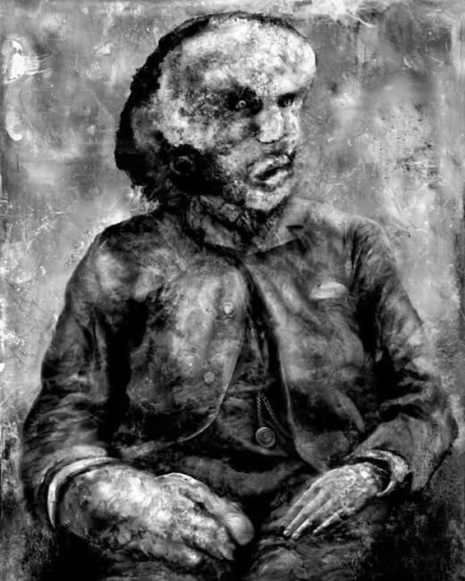Image of Joseph Merrick art by Aeron Alfrey