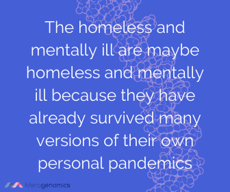 Image of Merogenomics article quote on homelessness struggles