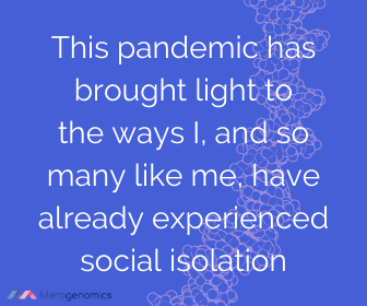 Image of Merogenomics article quote on social isolation