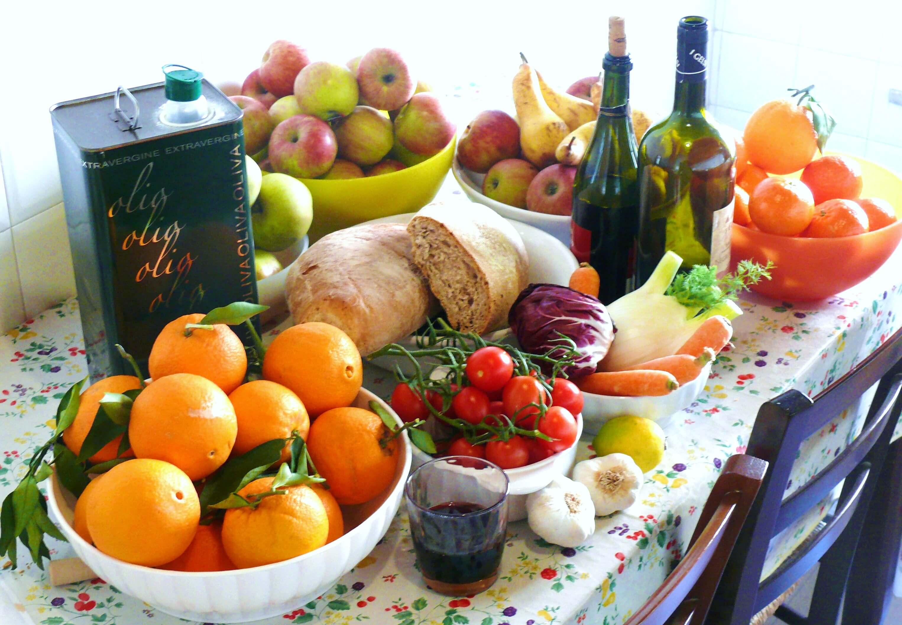 Image of Mediterranean diet examples