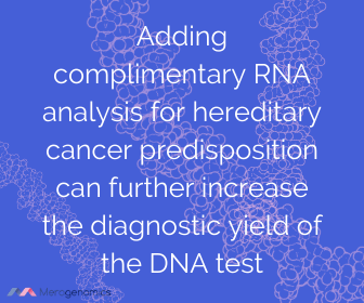 Image of Merogenomics article quote on cancer DNA test