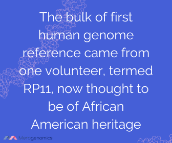 Image of Merogenomics article quote on human genome reference