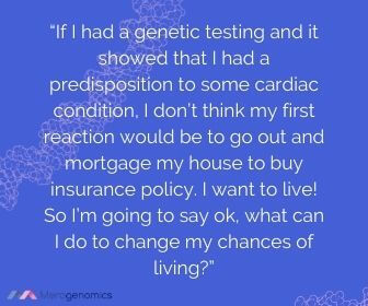 Image of Merogenomics article quote on DNA testing and lifestyle choices by Senator Cowen