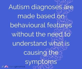 Image of Merogenomics article quote on autism diagnosis